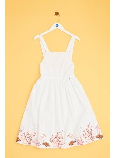 Tyess Kız Çocuk Beyaz Elbise 19SS1TJ4924 Beyaz
